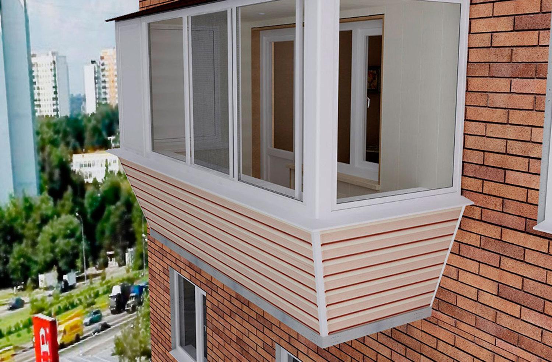 Отделка балконов и лоджий сайдингом.